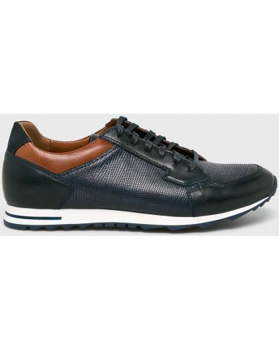 Кожаные туфли на шнуровке синий Conhpol