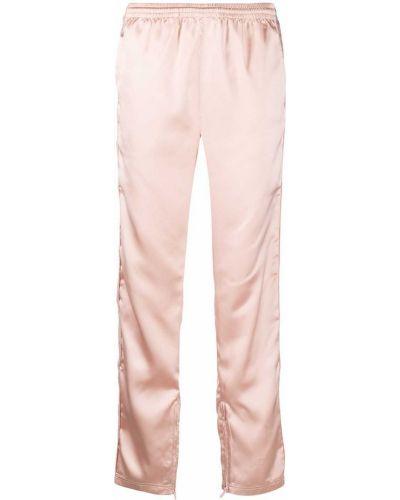 Прямые розовые спортивные брюки эластичные Kappa