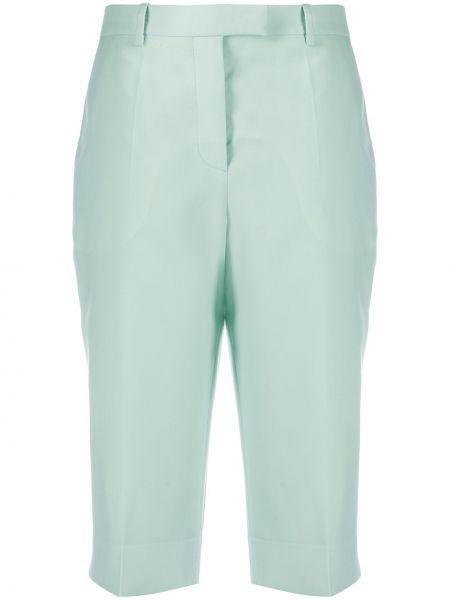 Зеленые с завышенной талией шорты с карманами Givenchy