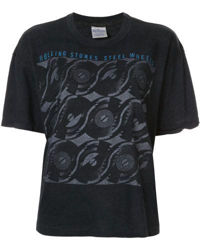 Футбольная черная футболка с камнями Fake Alpha Vintage