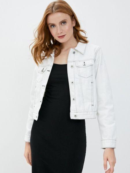 Белая джинсовая куртка свободного кроя Befree