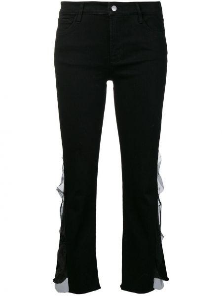 Черные укороченные джинсы с манжетами с поясом J Brand
