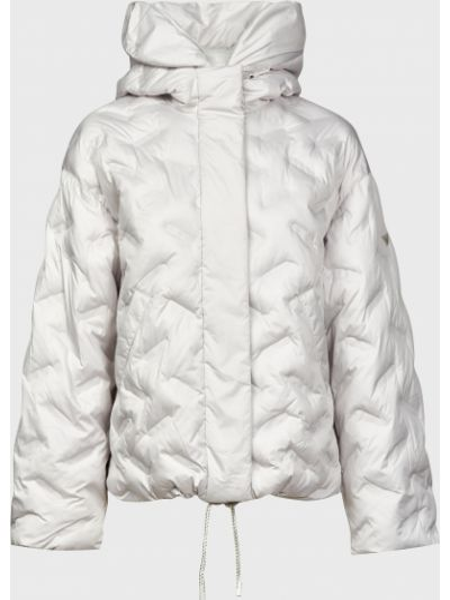 Серая куртка на молнии с подкладкой Emporio Armani