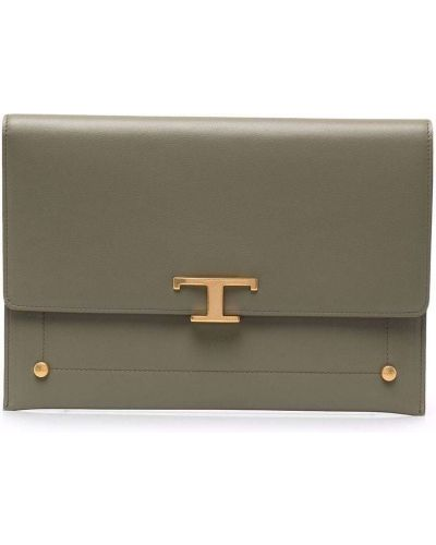Złota kopertówka - zielona Tod's