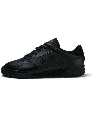 Кожаные черные кроссовки на шнуровке Ellesse