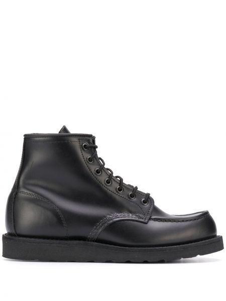 Botki skórzane - czarne Red Wing Shoes