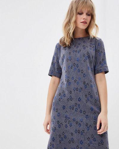 Платье осеннее синее Viserdi