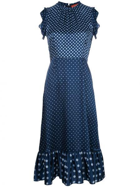 Платье с баской в горошек Altuzarra