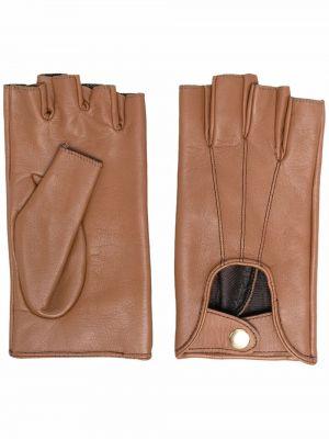 Rękawiczki bez palców - brązowe Manokhi