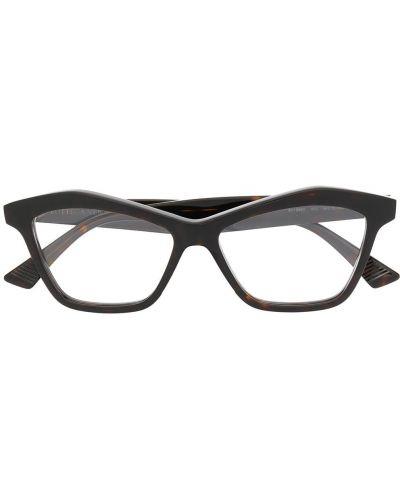 Złote oprawka do okularów - brązowe Bottega Veneta Eyewear