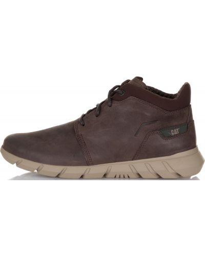 Кожаные ботинки спортивные замшевые Caterpillar