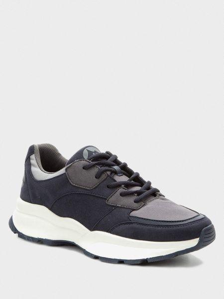 Кожаные кроссовки - синие Grunberg