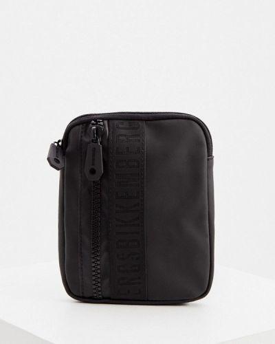 Кожаная черная сумка через плечо Bikkembergs