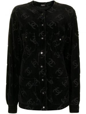 Черная куртка на пуговицах Chanel Pre-owned