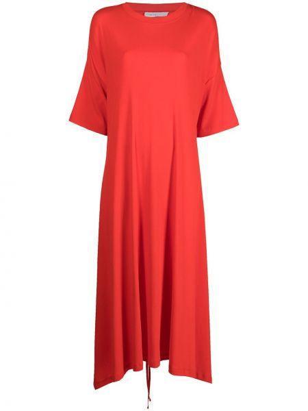 Хлопковое платье миди - оранжевое Rosetta Getty