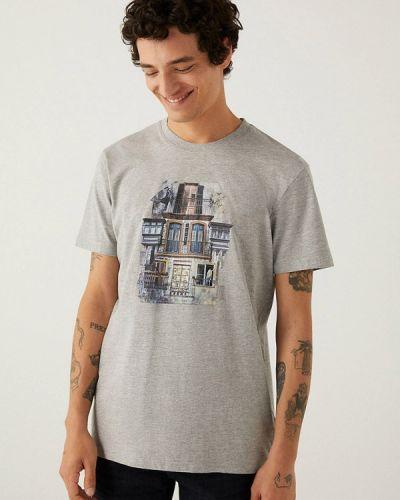 Серая футболка с короткими рукавами Springfield