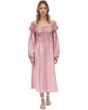 Sukienka midi z guzikami z mankietami ácheval Pampa