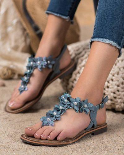 Sandały skorzane eleganckie Evento