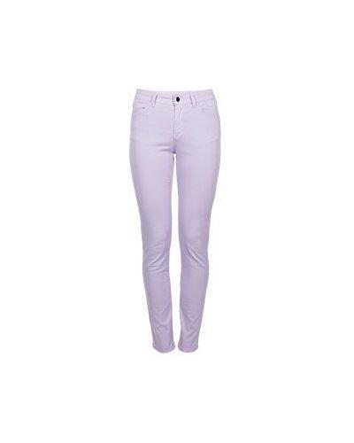 Фиолетовые зауженные джинсы-скинни Armani Jeans