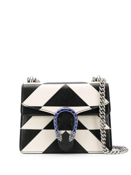 Z paskiem czarny torebka na łańcuszku z prawdziwej skóry Gucci