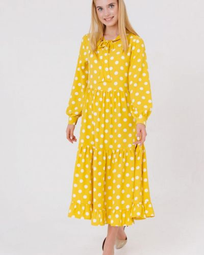 Прямое желтое платье Bessa