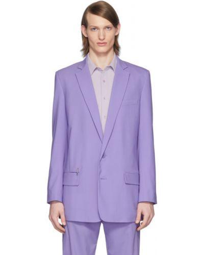 Белый удлиненный пиджак с карманами с воротником Tibi
