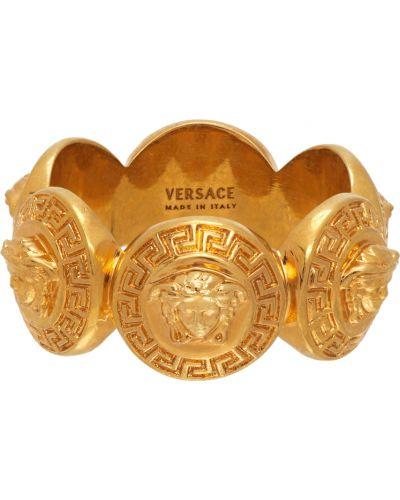 Кольцо металлическое - золотое Versace