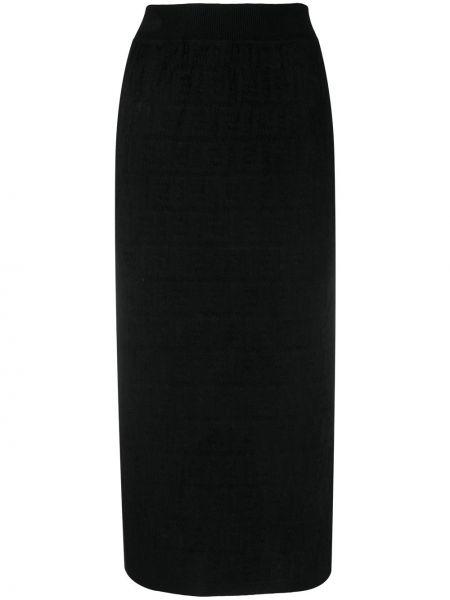 Юбка карандаш - черная Fendi