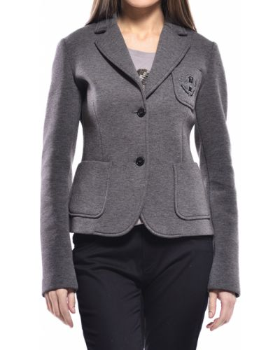Пиджак серый из вискозы Trussardi Jeans