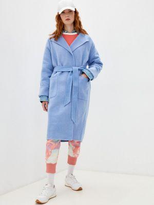 Голубое демисезонное пальто Polo Ralph Lauren