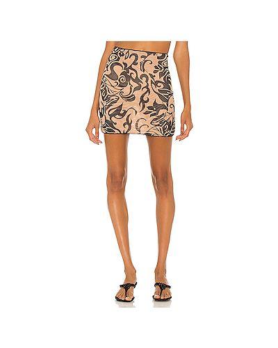 Текстильная юбка с сеткой с подкладкой Miaou
