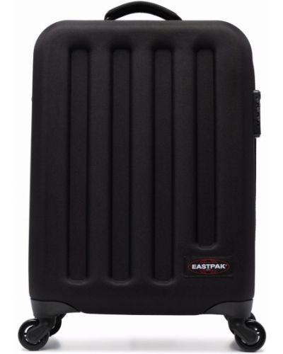 Prążkowana czarna walizka Eastpak