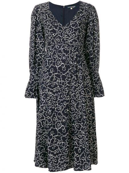 Расклешенное приталенное платье миди на молнии Alexa Chung