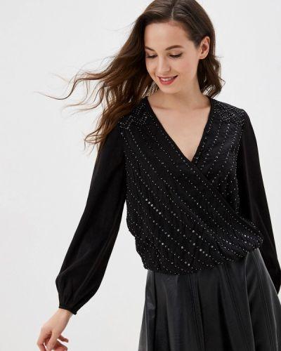 Блузка с длинным рукавом черная индийский Naf Naf
