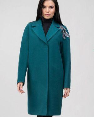 Бирюзовое пальто с капюшоном Raslov