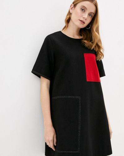 Прямое черное платье United Colors Of Benetton