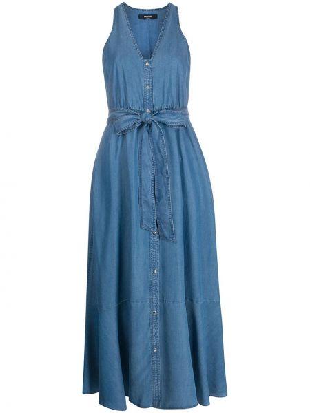 Джинсовое платье с V-образным вырезом годе Twin-set