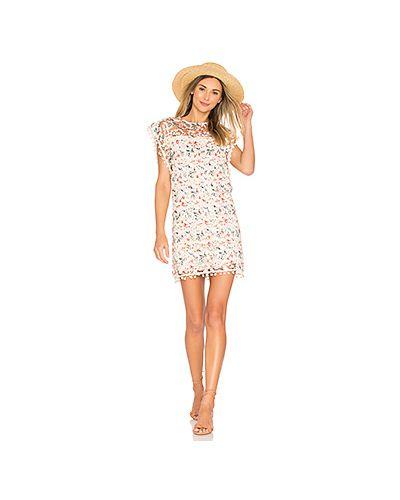 Платье на пуговицах прямое с помпоном Tularosa