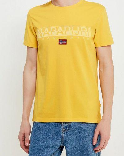 Желтая футболка Napapijri