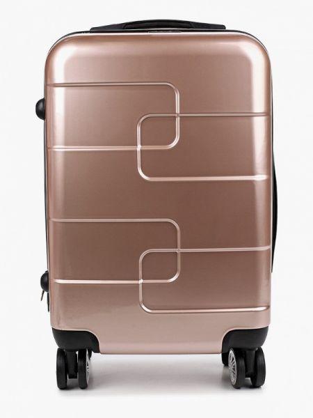 Розовый чемодан Polar