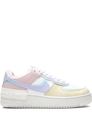 Skórzany biały sneakersy na sznurowadłach okrągły Nike