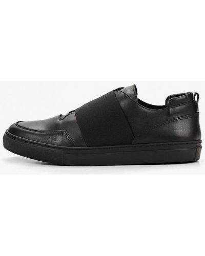 Низкие кеды черные кожаный Zign