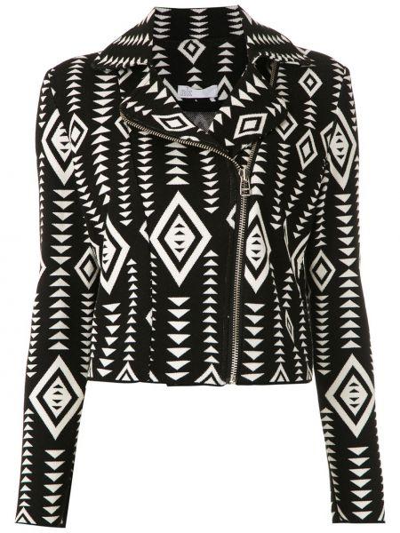 Черный классический пиджак с воротником на молнии Nk