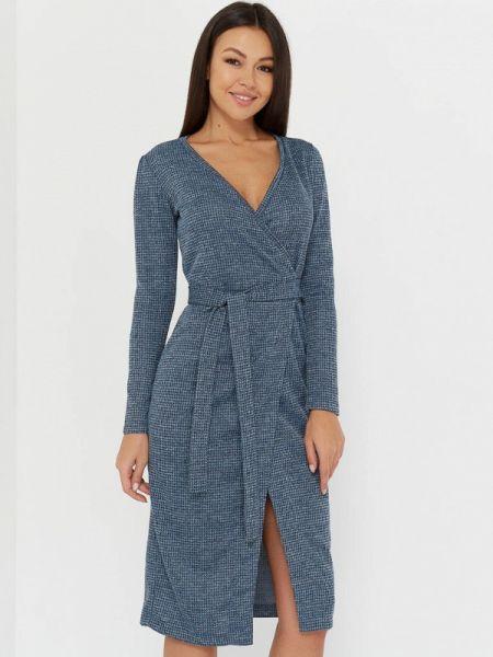 Синее однобортное платье Sartori Dodici
