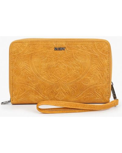 Кожаный кошелек - коричневый Roxy