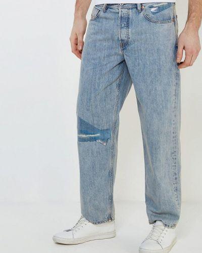 Голубые прямые джинсы Diesel