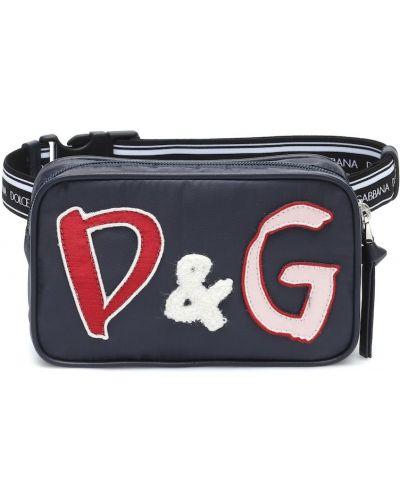 Włókienniczy niebieski torba z paskiem Dolce & Gabbana Kids