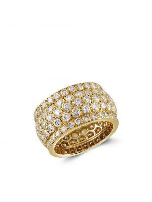 Żółty złoty pierścionek z diamentem Cartier