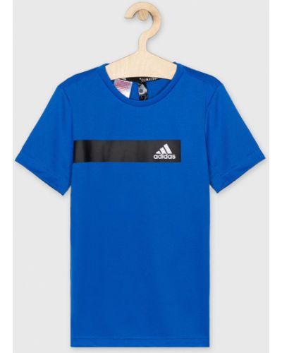 Футболка футбольный синяя Adidas Performance