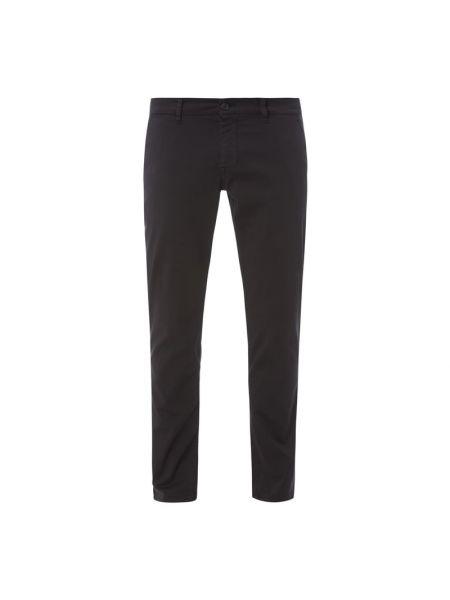 Czarne сhinosy bawełniane zapinane na guziki Boss Casualwear